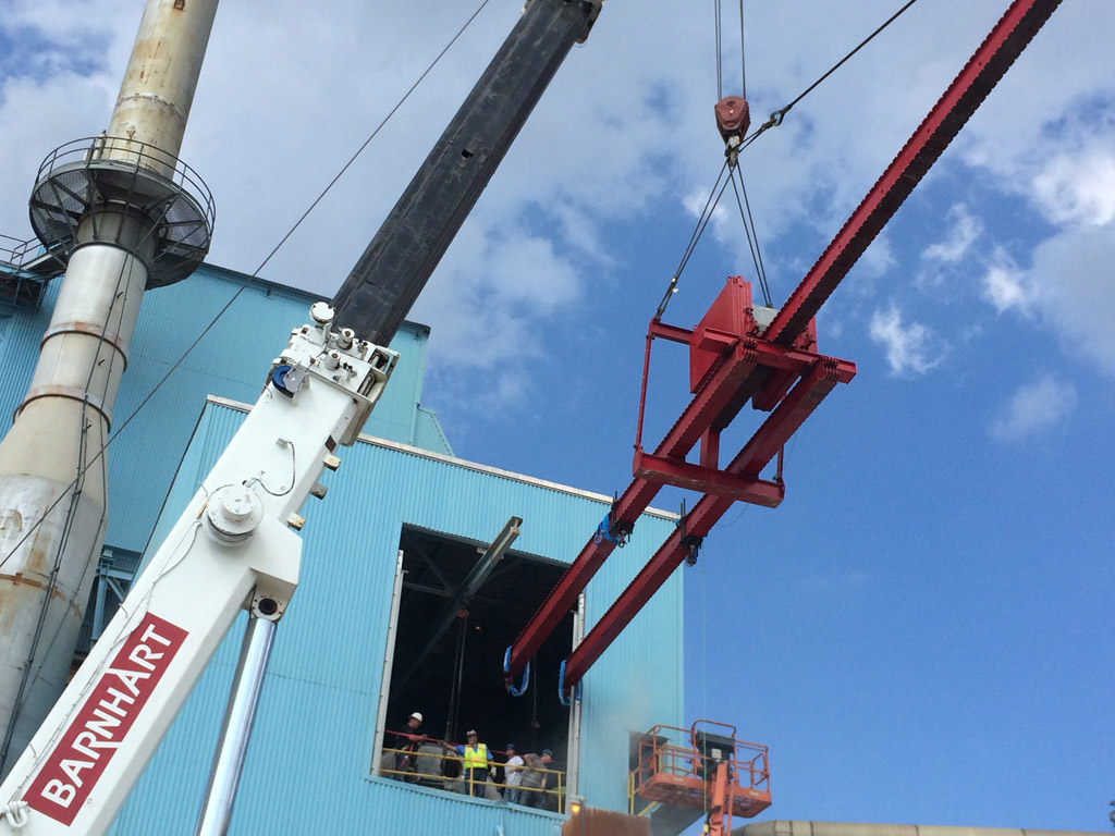 moveable counterweight barnhart crane rigging